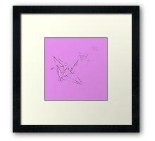 Origami Bird Framed Print