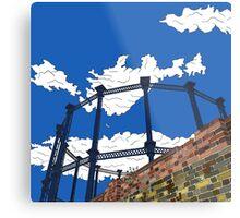 Regent's Canal Gas Tower Metal Print
