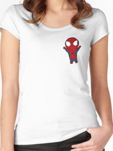 TRANSPARENT LIL SPIDERMAN Women's Fitted Scoop T-Shirt