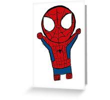 TRANSPARENT LIL SPIDERMAN Greeting Card