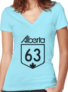 Alberta - Fort Mac Strong Women's Fitted V-Neck T-Shirt
