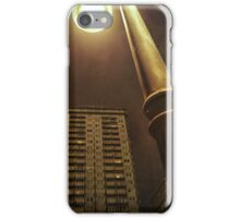 Night with street lamp and building iPhone Case/Skin