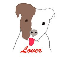 Pit Bull Lover Photographic Print