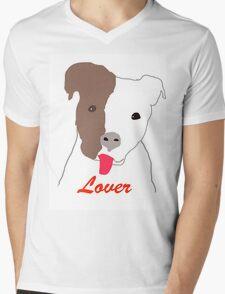 Pit Bull Lover Mens V-Neck T-Shirt