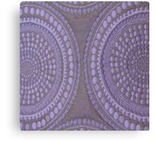Purple Circles Cloth Texture  Canvas Print