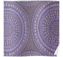 Purple Circles Cloth Texture  Poster