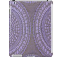 Purple Circles Cloth Texture  iPad Case/Skin