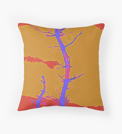 Bare Branches Throw Cushion Throw Pillow