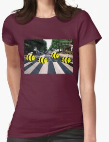 The Beetles, Abbee Road  Womens Fitted T-Shirt
