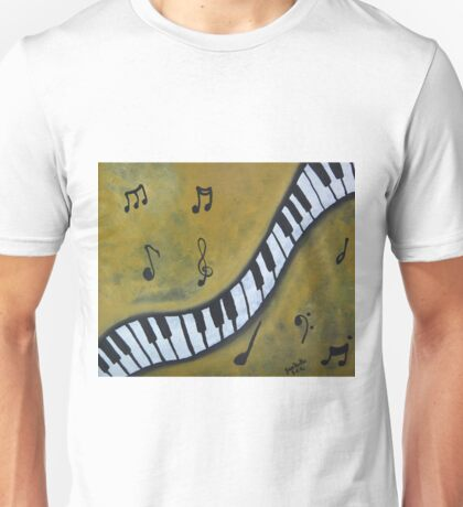 Piano Music Abstract Art By Saribelle Unisex T-Shirt