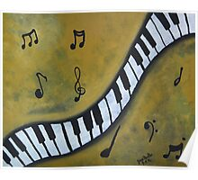 Piano Music Abstract Art By Saribelle Poster