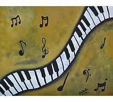 Piano Music Abstract Art By Saribelle Photographic Print