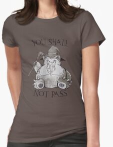 you shall not pass Womens Fitted T-Shirt