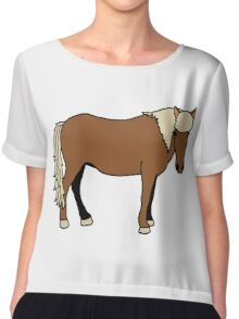 Icelandic Horse Chiffon Top