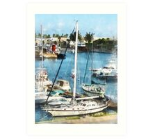 Boats at King's Wharf Bermuda Art Print