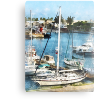 Boats at King's Wharf Bermuda Metal Print