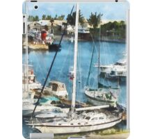 Boats at King's Wharf Bermuda iPad Case/Skin