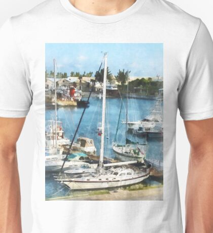 Boats at King's Wharf Bermuda Unisex T-Shirt