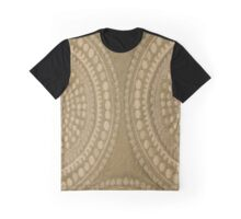 Brown Circles Cloth Texture Graphic T-Shirt