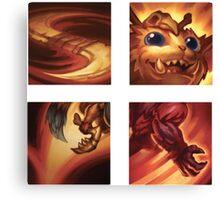 Gnar Ability Icons Canvas Print