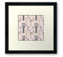 Delicate tribal flowers Framed Print