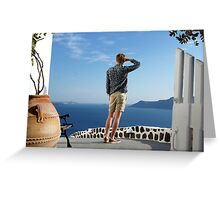 Greek paradise Greeting Card