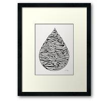 Water Drop – Black Ink Framed Print