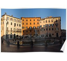 Rome's Fabulous Fountains - Fountain of Neptune, Piazza Navona, Rome, Italy Poster
