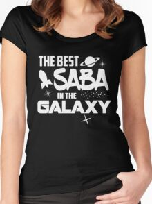 The Best Saba in the Galaxy - Sci-Fi Hebrew Jewish Gift Women's Fitted Scoop T-Shirt