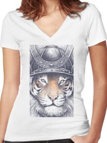 Strength and Honor Women's Fitted V-Neck T-Shirt