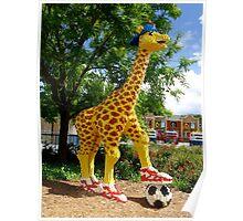 Athletic Giraffe Poster