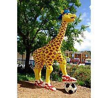 Athletic Giraffe Photographic Print
