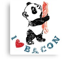 I Love Bacon - Panda Canvas Print