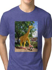 Athletic Giraffe Tri-blend T-Shirt