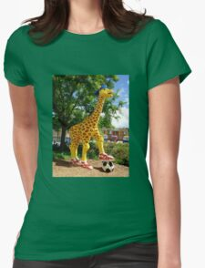 Athletic Giraffe Womens Fitted T-Shirt