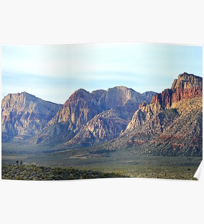 """""""Red Rock Canyon - Scale"""" Poster"""