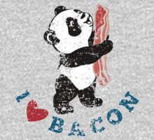 I Love Bacon - Panda Kids Tee