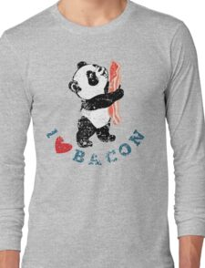 I Love Bacon - Panda Long Sleeve T-Shirt