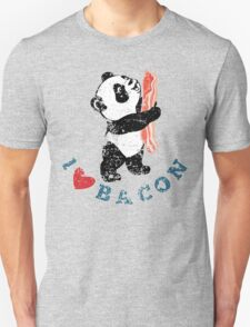 I Love Bacon - Panda Unisex T-Shirt