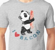 I Love Bacon - Panda Unisex T-Shirt