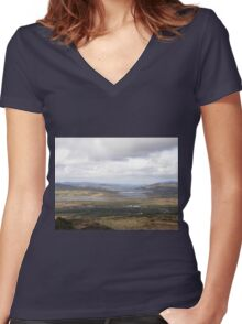 Inch Island Donegal , Ireland Women's Fitted V-Neck T-Shirt