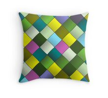 Colourful woven ribbon pattern Throw Pillow