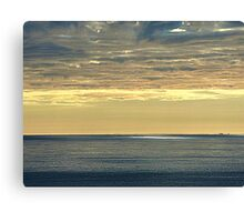 Sun Breaking Through Storm Clouds Canvas Print