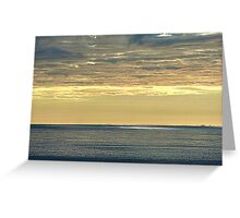 Sun Breaking Through Storm Clouds Greeting Card