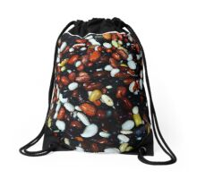Touching beans. Drawstring Bag