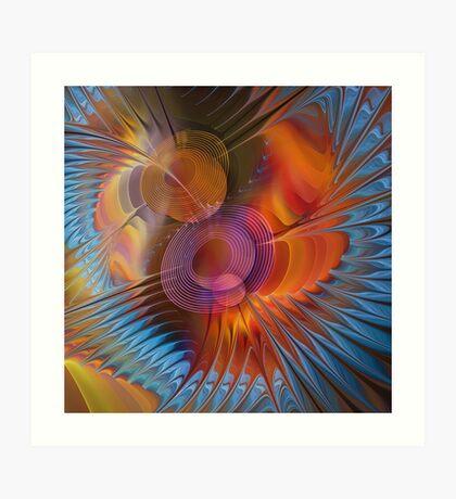 Energy fields Art Print