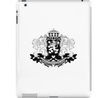 Bulgarian Crest - Black iPad Case/Skin