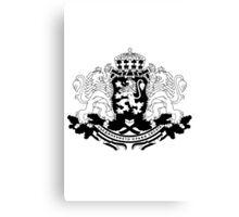 Bulgarian Crest - Black Canvas Print