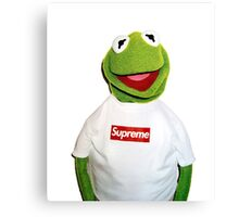Supreme Kermit the Frog Canvas Print