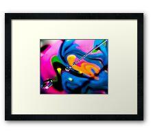 Drip Swirl Framed Print